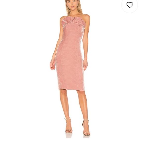 dac4797cae66 Cinq a Sept Velvet Mauve Strapless Cocktail Dress